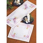 Permin Snowflake Angel Table Runner Christmas Cross Stitch Kit
