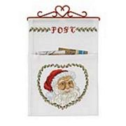 Father Christmas Letter Holder - Permin Cross Stitch Kit