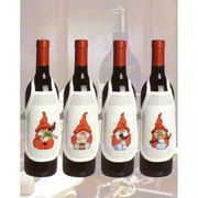 Christmas Gnome Wine Aprons - Permin Cross Stitch Kit