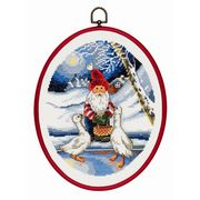 Permin Santa and Geese Christmas Cross Stitch Kit