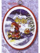 Santa Pulling Sled - Permin Cross Stitch Kit
