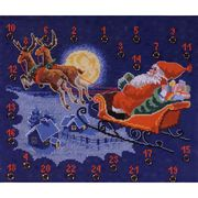 Delivering Presents Advent - Permin Cross Stitch Kit