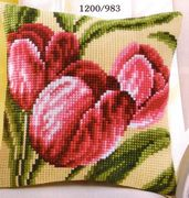 Red Tulips - Vervaco Cross Stitch Kit
