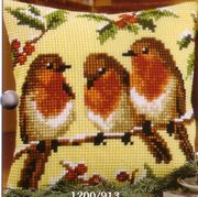 Vervaco Robins Cross Stitch Kit