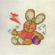 Permin Rabbit Cross Stitch Kit