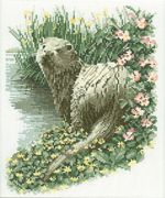 Otter - Aida - Heritage Cross Stitch Kit