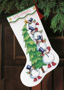 Dimensions Trimming the Tree Stocking Cross Stitch Kit
