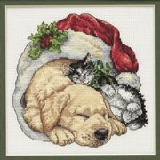 Christmas Morning Pets - Dimensions Cross Stitch Kit