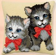 Pako Kittens with Red Bows Cross Stitch