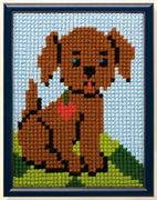Pako Brown Puppy Cross Stitch Kit
