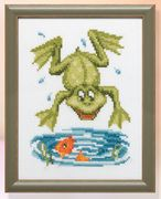Frog and Goldfish - Pako Cross Stitch Kit