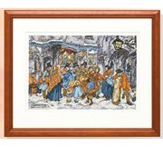 Winter Street Scene - Pako Cross Stitch Kit