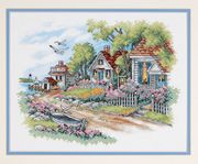 Dimensions Cottages by the Sea Cross Stitch Kit