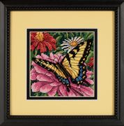 Butterfly on Zinnia - Dimensions Tapestry Kit