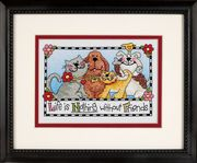 Life is Nothing Without Friends - Dimensions Cross Stitch Kit