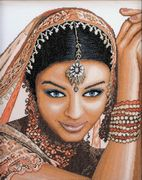 Lanarte Indian Beauty - Evenweave Cross Stitch Kit