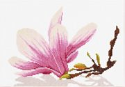 Lanarte Magnolia branch and Flower - Aida Cross Stitch Kit