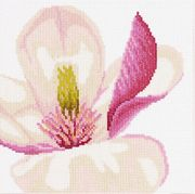 Lanarte Magnolia Flower - Aida Cross Stitch Kit