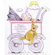 Design Works Crafts Buggy Girl Sampler Birth Sampler Cross Stitch Kit