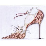Design Works Crafts Leopard Shoe Cross Stitch Kit