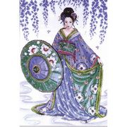 Blue Geisha - Design Works Crafts Cross Stitch Kit