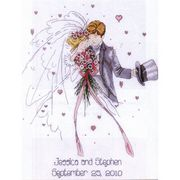 Design Works Crafts Wedding Couple Wedding Sampler Cross Stitch Kit