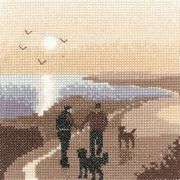 Morning Walk - Evenweave - Heritage Cross Stitch Kit