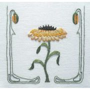 Abacus Designs Yellow Daisy Embroidery Kit