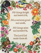 All Things Bright and Beautiful - Anchor Cross Stitch Kit