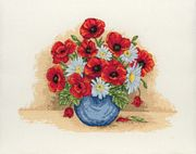 Anchor Poppy Spray Cross Stitch Kit
