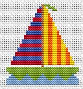 Sew Simple Yacht - Fat Cat Cross Stitch Kit