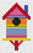 Sew Simple Birdhouse - Fat Cat Cross Stitch Kit
