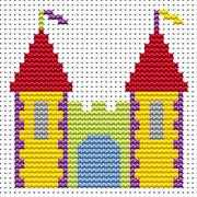 Sew Simple Castle - Fat Cat Cross Stitch Kit