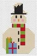 Sew Simple Snowman - Fat Cat Cross Stitch Kit
