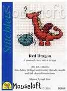 Red Dragon - Mouseloft Cross Stitch Kit