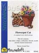 Mouseloft Flowerpot Cat Cross Stitch Kit