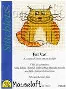 Mouseloft Fat Cat Cross Stitch Kit