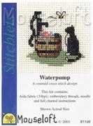 Cat at Waterpump - Mouseloft Cross Stitch Kit