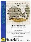 Mouseloft Baby Elephant Cross Stitch Kit