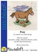 Mouseloft Pony Cross Stitch Kit