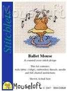 Mouseloft Ballet Mouse Cross Stitch Kit