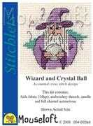 Mouseloft Wizard and Crystal Ball Cross Stitch Kit