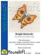 Mouseloft Bright Butterfly Cross Stitch Kit
