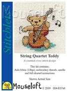 String Quartet Teddy - Mouseloft Cross Stitch Kit