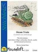 Mouseloft Steam Train Cross Stitch Kit
