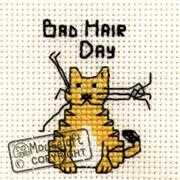 Mouseloft Bad Hair Day Cross Stitch Kit