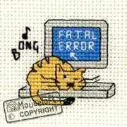 Mouseloft Fatal Error Cross Stitch Kit
