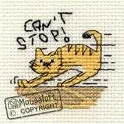 Mouseloft Can't Stop! Cross Stitch Kit