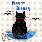 Best Wishes Cat - Mouseloft Cross Stitch Kit