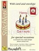 Mouseloft Birthday Cake Cross Stitch Kit